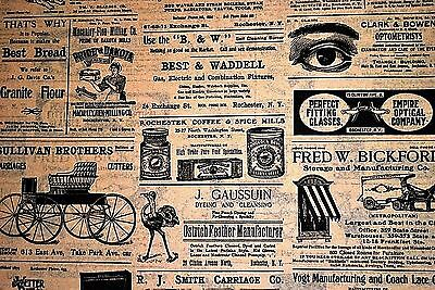 Reproduction Of Vintage Newspaper / Newsprint Ads Tissue Paper #223