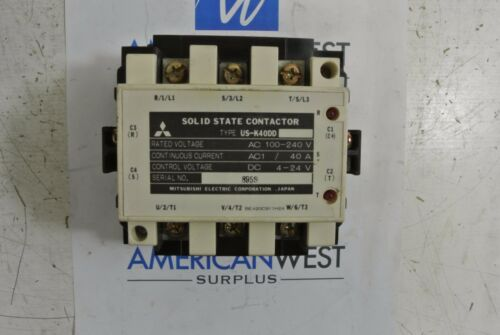 Mitsubishi Electric Corp Solid State Contactor US-K40DD 100-240V 40A