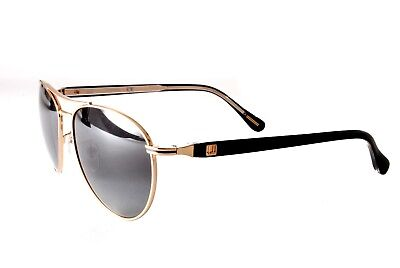 Dunhill Sunglasses SDH002 0301 Gold Black Gradient Grey