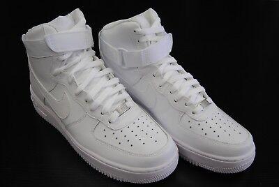 315121 115  New Mens Nike Air Force 1 High 07 All White   White Wt3