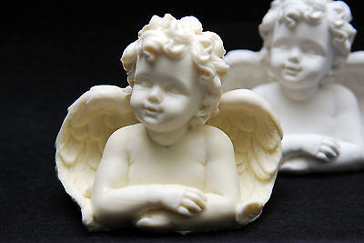 Candle Angel #1, Silicone Mold Chocolate Polymer Clay Jewelry Soap Wax Resin