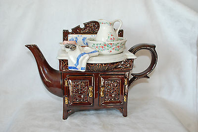 CARDEW TEAPOT VANITY  TABLE WITH ACCESSORIES, ENGLAND SIGNED,NUMBERED,N/42