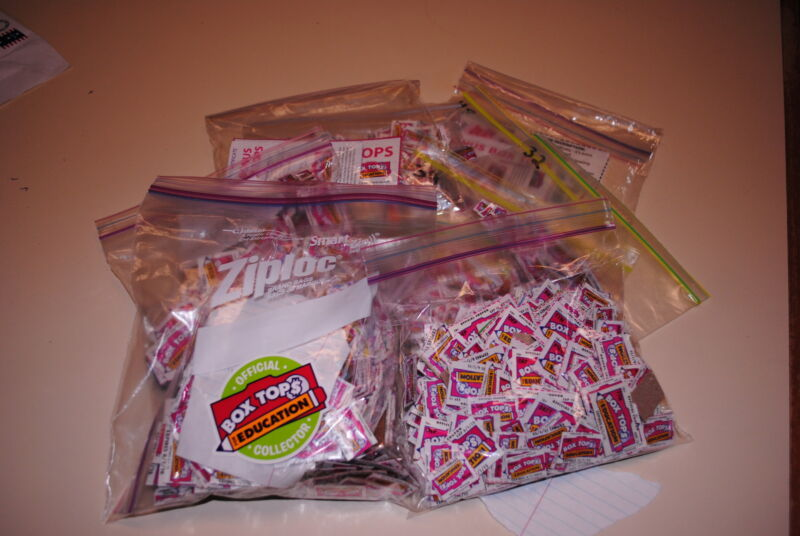 50 Box Tops for Education - Trimmed - BTFE NO EXPIRED Tops All 2019-2021