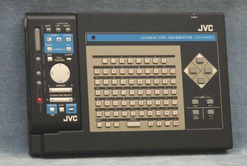 JVC CHARACTER GENERATOR CG-V6OU W/REMOTE