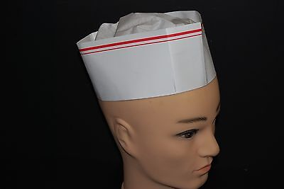Lot Of 12pc Adjustable White Paper Disposable Cooker Chef Hats Free Shipping