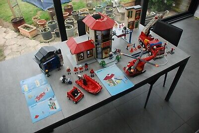 Playmobil Fire Station 3175, Fire Engine 3182 and Emergency Services Bundle