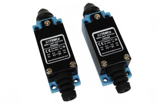 2 pcs TEMCo Plunger Limit Switch NC-NO CNC Mill Plasma Router Lathe home