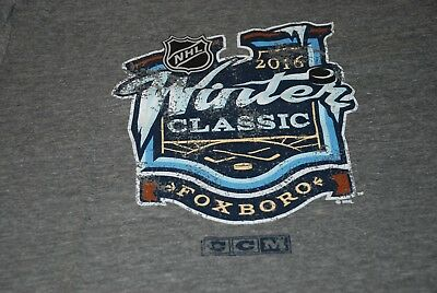 CCM 2016 Winter Classic Foxboro Canadiens Bruins T Shirt Small