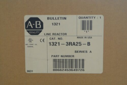 Allen Bradley 1321-3RA25-B BUL 1321 Line Reactor ser A  NEW IN BOX