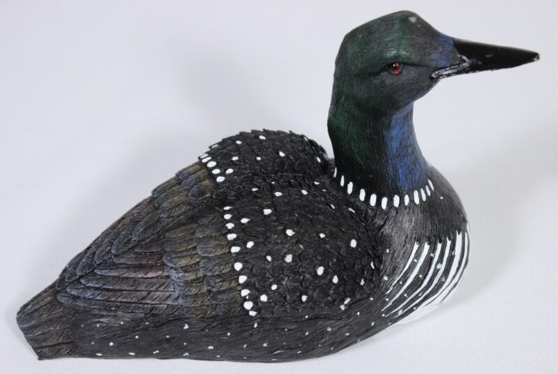 Common Loon Figure Desktop Mantle Statue Wildlife Bird Waterfowl Polyresin Lake