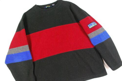 Vintage 90s Eddie Bauer Ebtek Color Block Fleece Pullover Sweatshirt Mens L