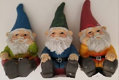 Fairy Garden Ceramic Gnomes Figurines, Select: Blue, Green or Red Ceramic Garden Gnomes