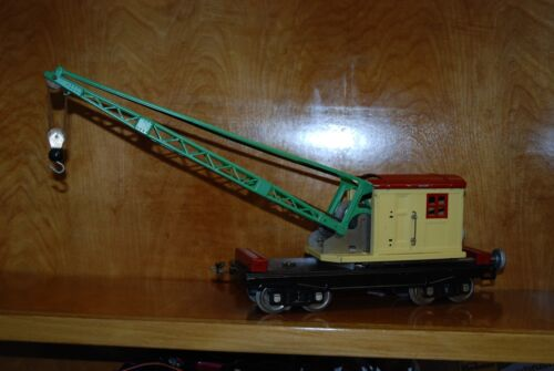 LIONEL #219 STD GAUGE OPERATING CRANE CAR USED  REFURBISHED W/O BOX