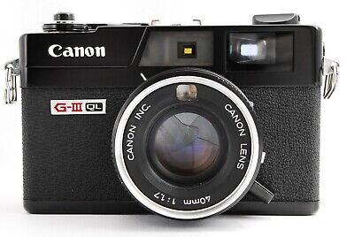Canon G-III QL Rangefinder Film Camera Black from Japan 400