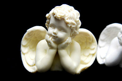 Candle Angel #2, Silicone Mold Chocolate Polymer Clay Jewelry Soap Wax Resin