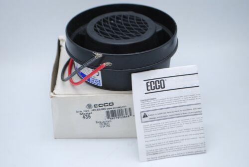 "New Ecco 435 Back Up Alarm, Black, 4-1/2"" H   AA7-3"