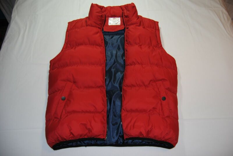 BACK TO THE FUTURE OFFICIAL UNIVERSAL STUDIOS MICHAEL FOX MARTY McFLY RED VEST!