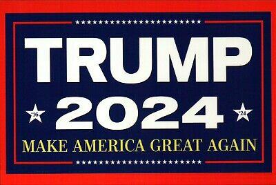 POSTCARD !! President Donald Trump 2024 Make America Great Again MAGA - Postcard