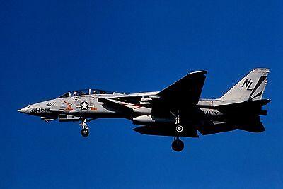Duplicate colour slide F-14A Tomcat 161144/NL-211 of VF-111 US Navy