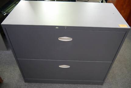 New Office 2 Drawer Steel Lateral Filing Cabinet Storage Lockable Richmond Yarra Area Preview