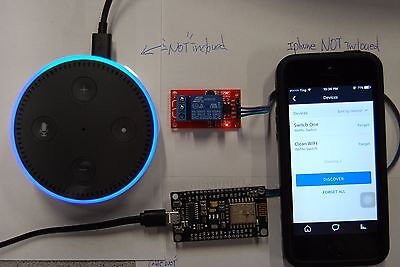 Google Home  Ifttt  Alexa Echo  Wifi  Momentary  Switch Turn On 3 Seconds   Off