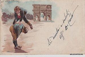 roma costumi giochi di monelli uno monta la luna 1902