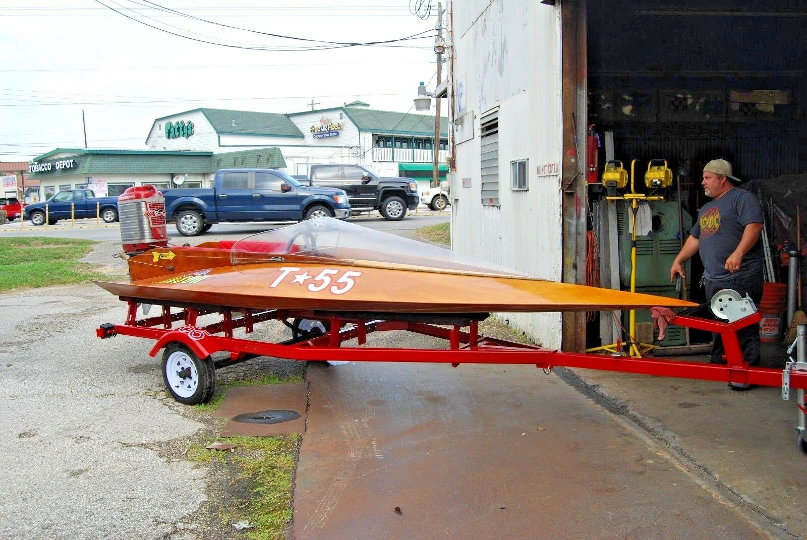 "1979 Z-Craft ""Jetsons"" Wooden Race Boat!"