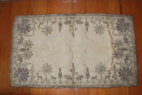 19th Century UNIQUE and RARE Burmese METALLIC THREAD Tapestry