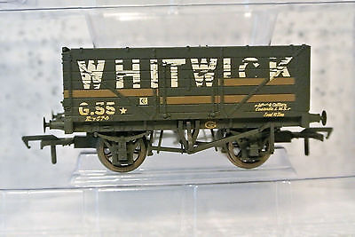 Bachmann Branch-Line OO 37-092 7 Plank Wagon WHITWICK w/Load Weathered C-9 NIB
