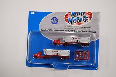 Lot 8-236 N Scale Mini-Metals 51139 Carnation White Super Power Tractor/32' Aero