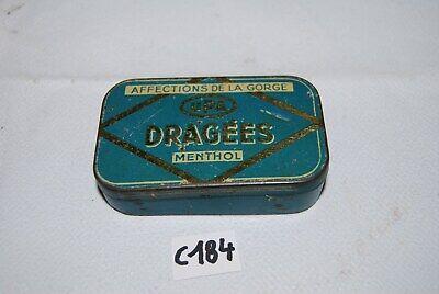 C184 Ancienne boite en métal - dragee menthol - publicitaire