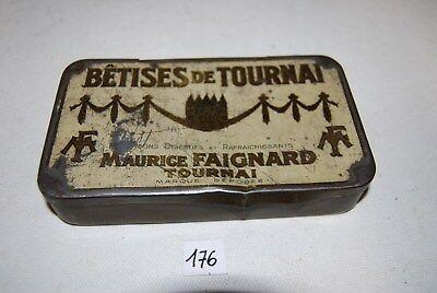 C176 Ancienne boite en métal - Bétises de Tournai Maurice Faignart