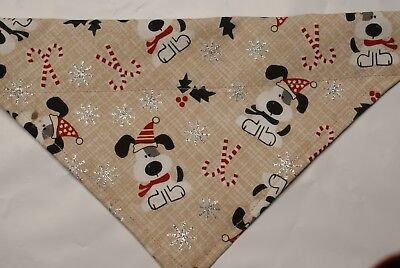 (Dog Bandana, OVER THE COLLAR,clothes, pet, Size M,L,XL, Christmas Pups!)