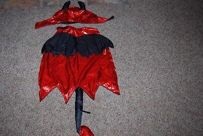 Grreat Choice Dog Black/Red Devil w/ Wings & Horns Costume Size - Horn Dog Kostüm