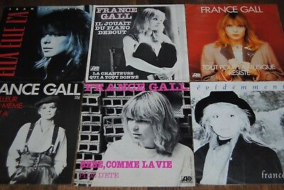 "LOT 6 X 7"" SINGLE VINYL *FRANCE GALL* DISQUES 45 TOURS"