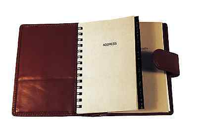 Tan Leather Covered Day Planner