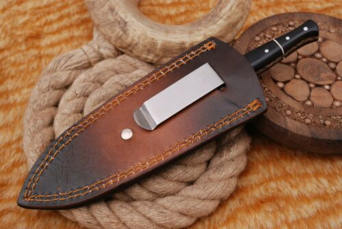 "8""CUSTOM HAND MADE PURE LEATHER SHEATH FOR DAGGER BLADE KNIFE AH-1357"