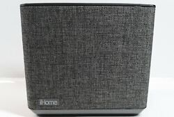 iHome Bluetooth Dual Alarm FM Clock Radio Speaker Phone USB Stealth Grey Speaker
