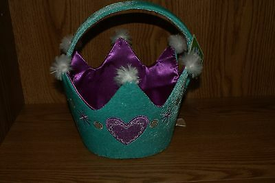 Easter Basket Halloween Costume (Princess Crown Halloween Costume Easter Plush Basket Bag Bucket Medium)