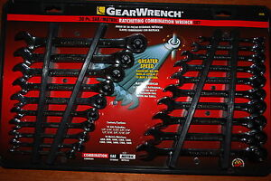 New 20pc Gearwrench SAE & Metric Ratcheting Combination Wrench Set # 35720