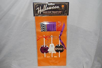 WILLIAMS SONOMA HALLOWEEN CAKE POP STICKS AND TREAT BAGS PARTY FAVOR