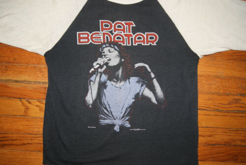 Vintage 1981 PAT BENATAR Crimes of Passion Concert Tour 3/4 Sleeve M T-Shirt 80s