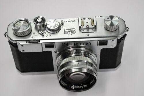 Nikon Nippon Kogaku S (M) RFDR camera #60910006 w/5cm f1.4 lens, cap & case.