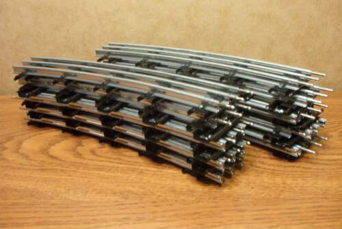 """LIONEL 54"""" DIA. CURVE TUBULAR TRACK TRADITIONAL O GAUGE  16 PIECES (full Circle)"""