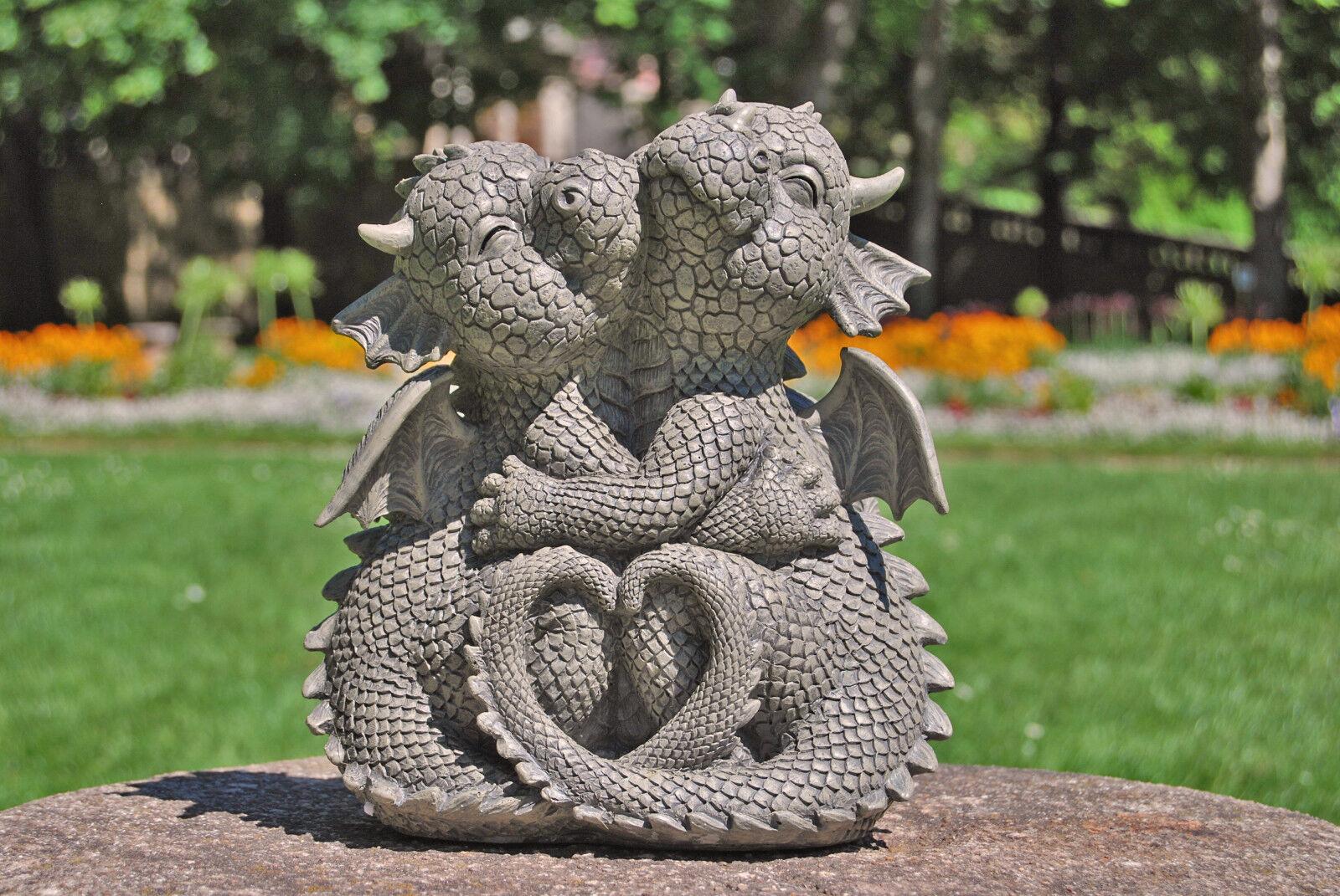 Drachen Gartendrachen, kuschelnd Süße Drachenfiguren Figuren Gargoyle Liebe Deko