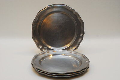 8 Inch Pewter Plate - 4 RWP Wilton Columbia Pewter Armetale Tavern Queen Anne Dinner Plate 10 3/8 Inch