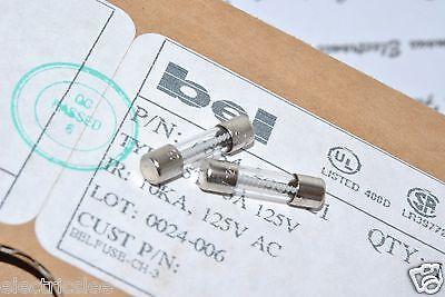10Pcs   Bel  5Tt 5A 125V 5X20mm Glass Fuse 0654 500 21