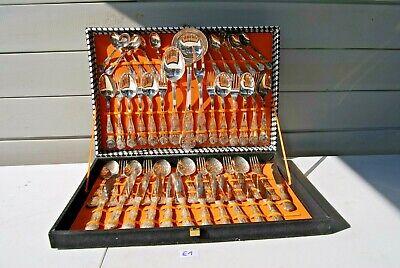 E1 Magnifique ménagères - art de la table - valise origine - + 50 pièces