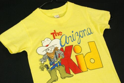 Vintage 80s The Arizona Kid Western Cowboy T Shirt Youth Boys Junior Stars 4