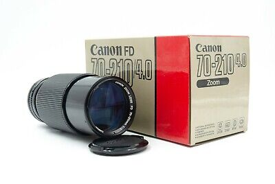 Canon 70-210mm f/4.0 New  FD Lens In Mint Cond. w/Original Box & Packaging